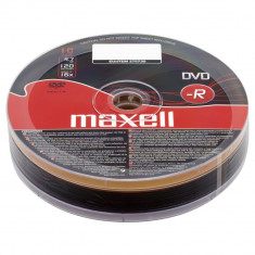Set 10 DVD-R Maxell 4.7GB inscriptibil la 16X