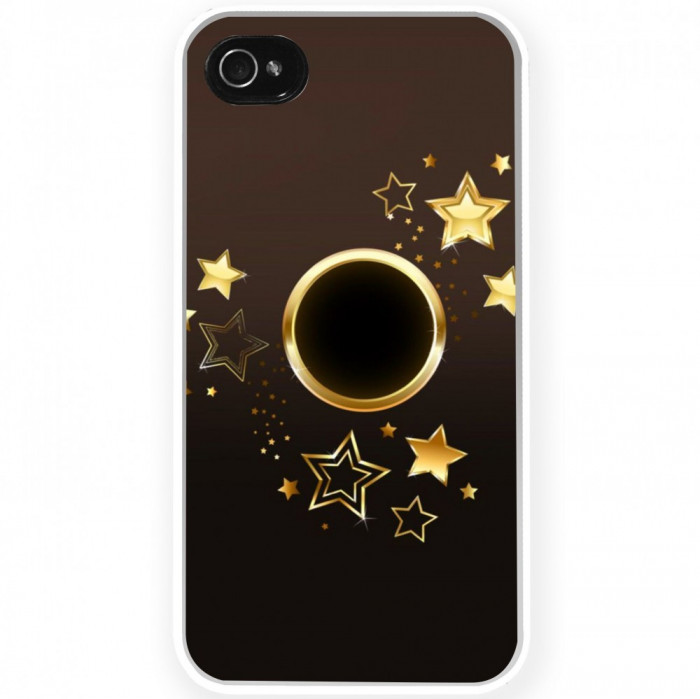 Husa Goldy Star APPLE Iphone 5c foto mare