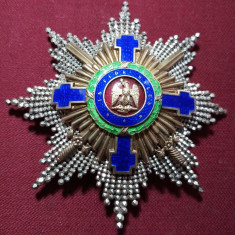 Ordinul Steaua Romaniei, placa Mare Cruce, cu spade pt. merite de razboi !RARA !
