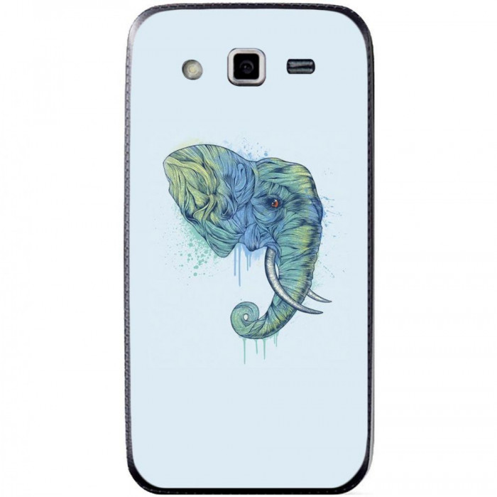 Husa Abstract Aqua Elephant Head SAMSUNG Galaxy Grand 2