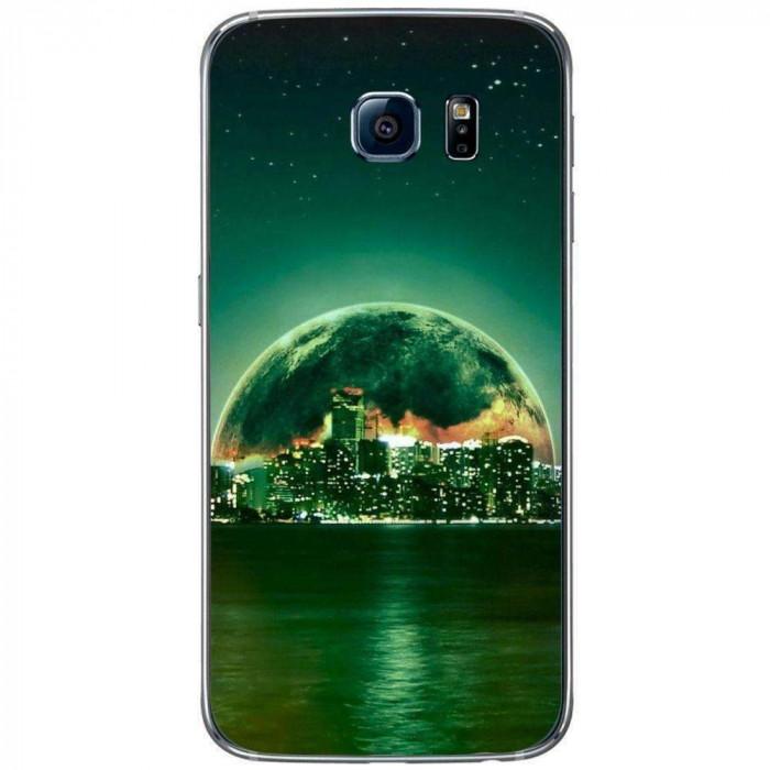 Husa Fantasy Green City SAMSUNG Galaxy S6 foto mare