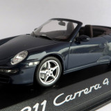 Minichamps Porsche 911 Carrera 4 cabriolet ( blue ) 2010 1:43