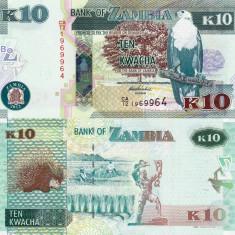 ZAMBIA 10 kwacha 2012 UNC!!!