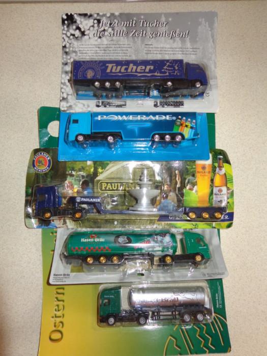 Lot 5 camioane 1/87 Scania,Daf,Iveco,Volvo