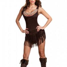 P130 Costum Halloween Pocahontas, Marime: S/M