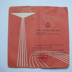 Diploma sportiva UCFS Crisana 1965