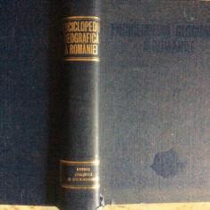 ENCICLOPEDIA  GEOGRAFICA  A  ROMANIEI - 1982