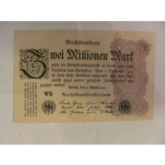 CY - 2000000 / 2 milioane marci mark 09.08.1923 Reichsbanknote Germania unifata