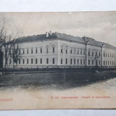 SATU MARE - SCOALA NORMALA DE INVATATORI - ANUL 1906 - Carte Postala Maramures 1904-1918, Circulata, Fotografie