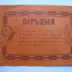 Diploma Inspectoratul scolar al judetului Bihor, 1993