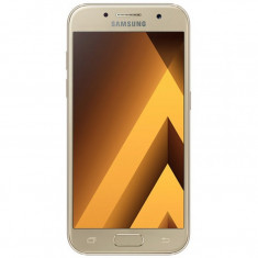 Smartphone Samsung Galaxy A3 A320 2017 , 4.7 Inch , Octa Core , 2 GB RAM , 16 GB , Retea 4G , Android Marshmallow , Gold, 16GB, 4.5'', 8 MP