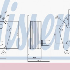 Radiator ulei (termoflot) KIA CARENS III, CEE'D, CEE'D SW, RIO II, SOUL, SPORTAGE 1.4D-1.7D 03.05- - Radiator auto ulei Thermotec