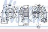 Ventilator aeroterma interior habitaclu OPEL VECTRA C GTS NISSENS 87049
