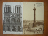 Franta - Paris - lot 4 carti postale vechi, Austria, Necirculata, Fotografie