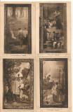 Franta - Peintures murales du Pantheon - lot 36 carti postale vechi, Necirculata, Ambele, Europa