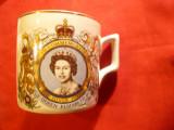 Cana portelan- Aniversarea a 25 Ani Incoronarea Reginei Elisabeta IIa-Jubileu Ag