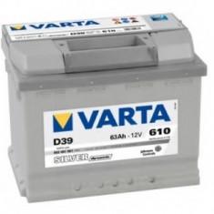 Baterie auto Varta D39, Silver Dynamic, 63Ah, 610A, 5634010613162, 60 - 80