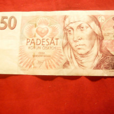 Bancnota 50 kor.Cehoslovacia, cal. XF 1997 - bancnota europa