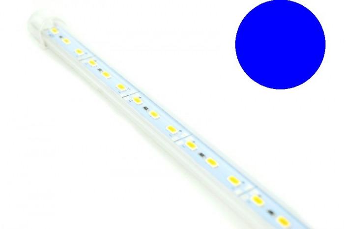 Banda led rigida 5630 korea chip cu profil  1m 12V  Lumina ALBASTRA 6000k 18W