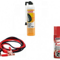 Pachet Depanare 2 (Spray pana, Cabluri pornire, Spray pornire motor)