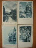 Peisaje - lot 10 carti postale vechi ( G. Heuer & Kirmse - Germania ), Necirculata, Printata, Europa