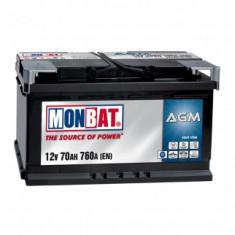 Baterie Monbat AGM, 60Ah, 560A - Baterie auto Monbat, 60 - 80