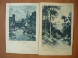 Peisaje - lot 6 carti postale vechi ( G. Heuer & Kirmse - Germania ), Necirculata, Printata, Europa