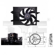 Ventilator radiator motor Ford Fiesta, Fusion, Mazda 2 1.4TDCi/CD 11.01- - Electroventilator auto Thermotec