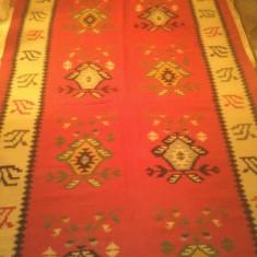 Covor Oltenesc, putin folosit, vechime 40 ani, lana naturala, Handmade - Covor vechi