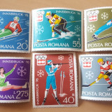 Romania neștampilate 1976 -  Michel 4 euro- J.O. de iarnă Innsbruck, Nestampilat