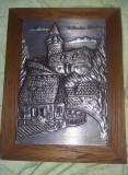 Tablou vechi VESTNERTOR-NURNBERG,Tablou staniu Basorelief,GEIST-SPITAL-NURNBERG, Peisaje, Grisaille, Art Deco