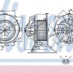 Ventilator aeroterma interior habitaclu OPEL VECTRA C GTS NISSENS 87025 - Aeroterma auto