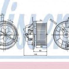 Ventilator aeroterma interior habitaclu VW SHARAN (7N) NISSENS 87032 - Aeroterma auto
