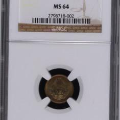 1 BAN 1953 MS 64 NGC (RARUTA IN MS) - MONEDA DE COLECTIE - Moneda Romania