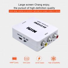 Adaptor Converter RCA AV la HDMI HD 720P 1080P av2hdm