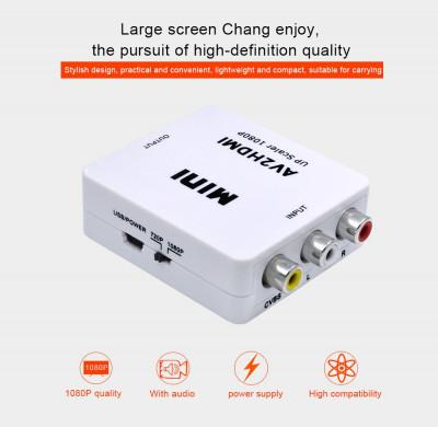 Adaptor Converter RCA AV la HDMI HD 720P 1080P av2hdm foto