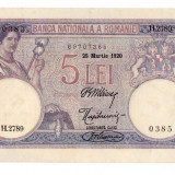 Bancnota 5 lei 1920