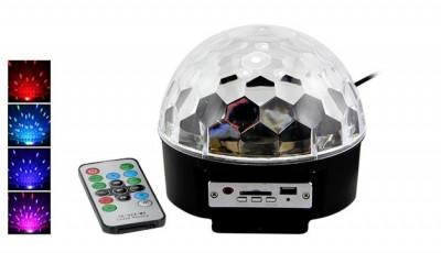 Glob Disco Cu Senzor De Muzica Lumini Disco 6 culori foto