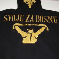 "Hanorac ""ULTRAS"" fotbal - BOSNIA-HERZEGOVINA - Tricou echipa fotbal, Marime: XL, Culoare: Negru, Nationala, Maneca lunga"