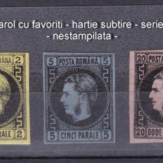 1867 - Carol cu favoriti - hartie subtire - serie completa - originala