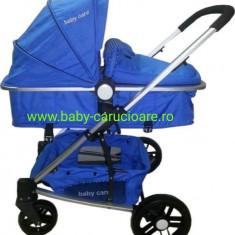 Cărucior nou născut 2 in 1 Baby Care YK 18 Albastru închis