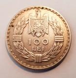 Moneda argint 100 lei 1932 A.UNC -UNC, Regele Carol II