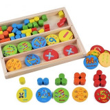 Cutie cu piese de lemn Matematica Elementara