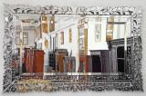 OGLINDA VENETIANA MONUMENTALA  DIN CRISTAL CU DIVERSE DECORATIUNI  VM223, Venetian