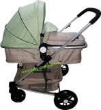 Cărucior nou născut 2 in 1 Baby Care YK 18 Verde fistic cu bej, Baby Care