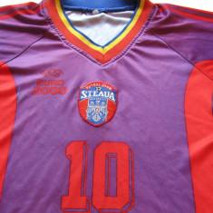 Tricou (vechi-deteriorat) fotbal - STEAUA BUCURESTI - Tricou echipa fotbal, Marime: M, Culoare: Din imagine, De club, Maneca scurta