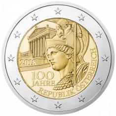 !!! AUSTRIA - 2 EURO 2018, COMM - KM NEW - UNC / REPUBLICA AUSTRIA, 100 ANI, Europa