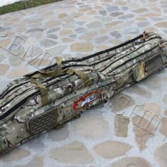 Husa Transport Lansete Geanta FL 1, 35 Metri 4 Compartimente + 4 Mulinete waterpr - Geanta pescuit