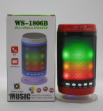 Boxa portabila bluetooth WS-1806B, USB,FM  cu lumini / led-uri