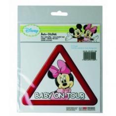 Abtibild pentru luneta Minnie Mouse Baby on Tour, stickere auto, 17x15x0, 1 cm - Stickere tuning